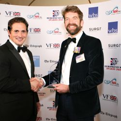 31. Heropreneurs Awards   Johnny Mercer MP with Entrepreneur of the Year winner Alex Matheson