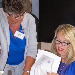 5. Judging Heropreneurs Awards   Amanda Rayner discussing results with Liz Parker